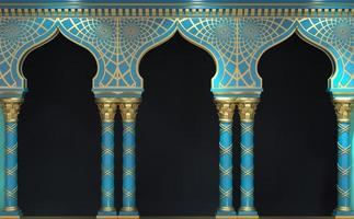 östra antika arabiska båge ingången till byggnaden foto