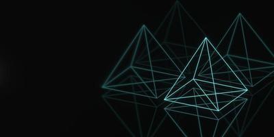 banner hologram pyramid geometri mörk foto