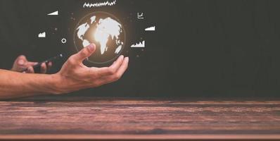 handel med aktier och investeringar runt om i världen foto