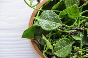basella alba grönsaksblad för hälsan foto