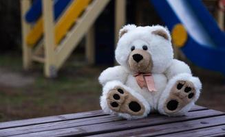ledsen ensam nallebjörn foto