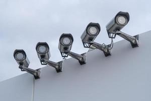 sluten tv eller övervakningskameror foto