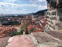panoramautsikt över Prag Tjeckien foto