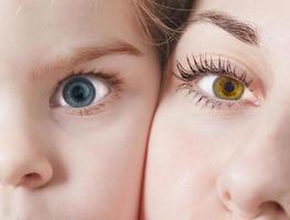 vackra naturliga ögon foto