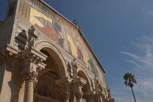 kyrka av alla nationer i trädgården gethsemane på olivberget jerusalem israel foto