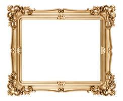 barock stil gyllene bildram foto