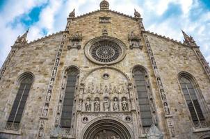 yttre syn på Como Cathedral Duomo di Como foto
