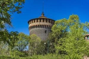 sforza slott i Milano Italien foto