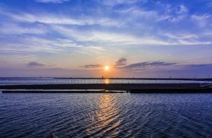 vacker solnedgång från Chibas kust foto