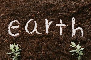 bakgrund av jord med ordet jorden foto