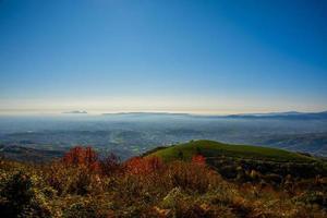 dimma och färger från bergen foto