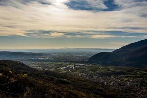 landskapsperspektiv noll foto