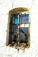 rest av industriellt fönster foto