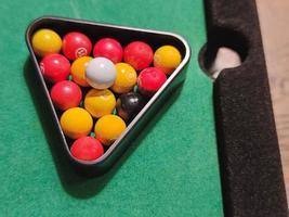 miniatyr biljardbollar foto