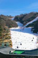 gangwon-do, Korea 2016 - Vivaldi Park skidort foto