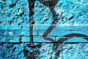 färgglada tegelvägg foto