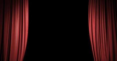 röd scengardinbakgrund med kopieringsutrymme foto