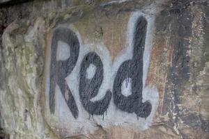 ordet röd foto