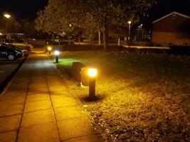 lampor på parkeringen foto