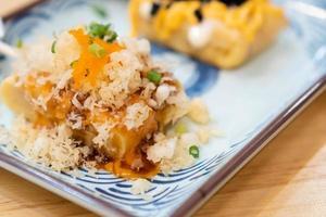 tamagoyaki japansk söt omelett foto