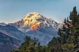 Annapurna naturskyddsområde i Nepal foto