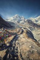 annapurna basläger i nepal foto