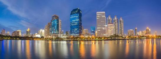 bangkok stadsbild på natten foto