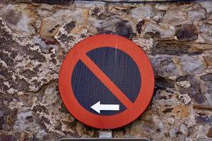 ingen parkeringszon trafiksignal foto