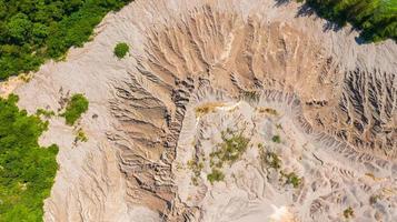 antenn ovanifrån mönster yta på jorden foto
