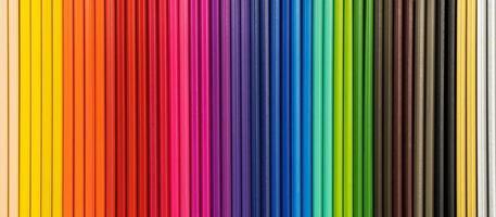 närbild av färgpennor bakgrund foto