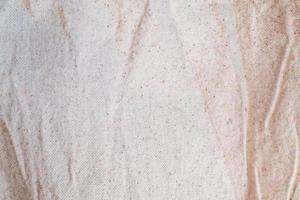 vit linneduk textur bakgrund foto