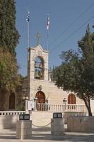 helgedom över gethsemanes grotta vid olivberget nära jerusalem foto