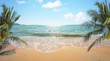 vacker strand i Thailand foto