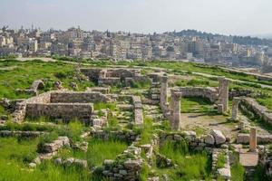 bysantinsk kyrka vid Amman citadell Jordanien foto