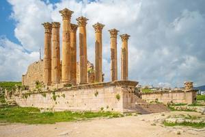 Artemis tempel vid Jerash Amman Jordanien foto