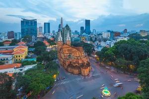 Notre Dame katedralen basilikan i Saigon Vietnam foto
