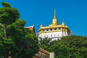 Gyllene berget av Wat Saket Bangkok i Thailand foto