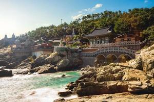 haedong yonggung tempel vid busan i Sydkorea foto