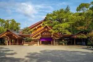 kaguraden av Atsuta-helgedomen vid Nagoya i Japan foto