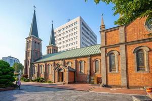 vår dam av lourdes-katedralen i Daegu i Sydkorea foto