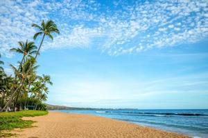 landskap vid kaanapali beach på maui island, hawaii, oss foto