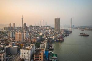 stadsbild av Macau i Kina foto