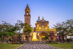 manilakatedralen i intramuros, manila, filippinerna foto