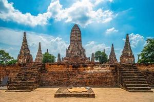wat chaiwatthanaram på Ayutthaya i Thailand foto