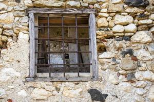fönster med järn foto