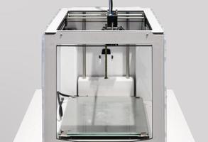 modell av elektronisk skrivare tredimensionell maskin foto