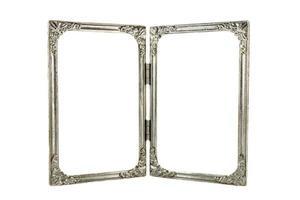 gamla dubbla aluminiumramar foto