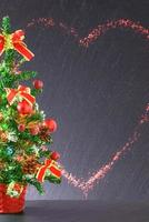 dekorativ jul eller nyårsbakgrund foto