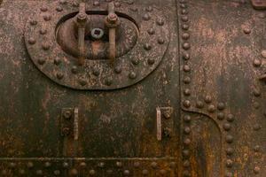 öga sida robot rostig metall rostjärn gammal metall rost konsistens foto