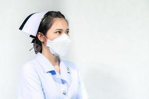 sjuksköterskor bär masker för att skydda mot coronavirus covid19 foto